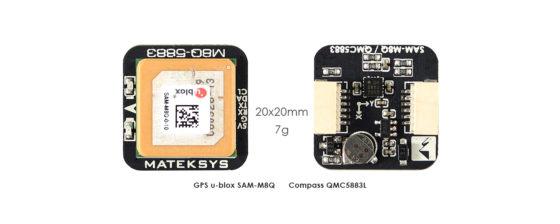 Matek GPS & Compass M8Q-5883