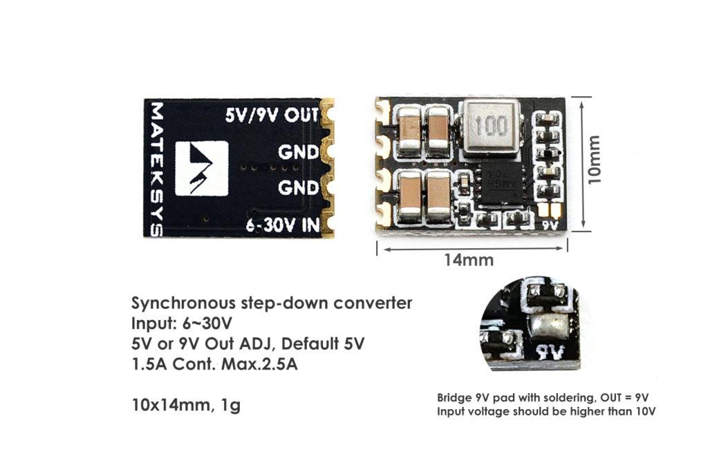 Matek Micro BEC 6S 5V/9V 3-Pack
