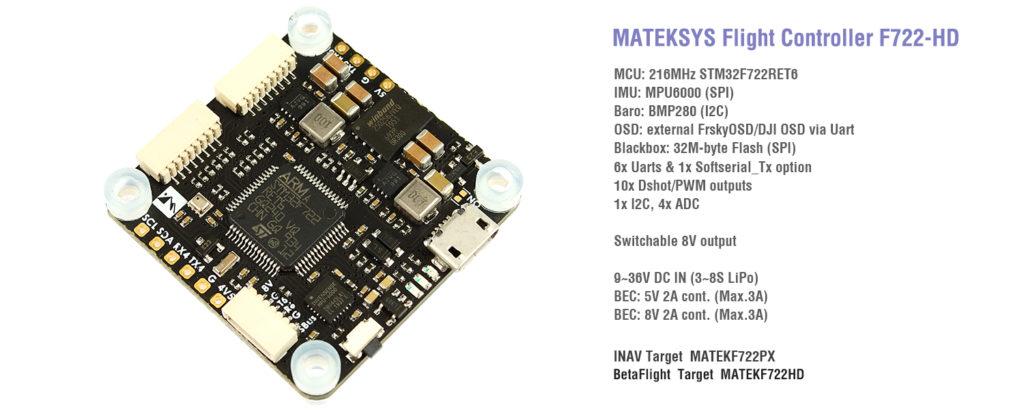 Matek F722-HD Flight Controller