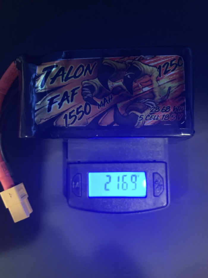 Heli-Nation Talon FAF Series 1550mAh 125C 18.5V 5S Lipo Battery with XT60 Connector