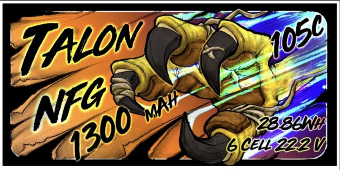 Heli-Nation Talon NFG 1300mAh 6S 105C (205C Burst) Lipo