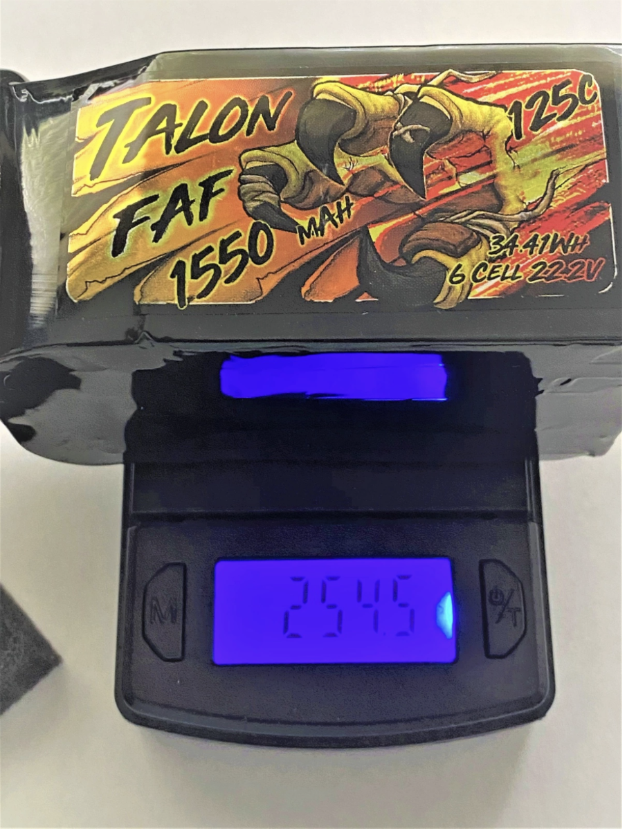 Heli-Nation Talon FAF Series 1550mAh 125C 22.2V 6S Lipo Battery with XT60 Connector