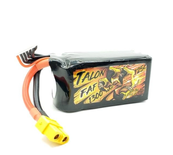 Talon FAF Series 1300mAh 6S 22.2V 125C Lipo Battery